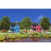 Zweeds huis, rood